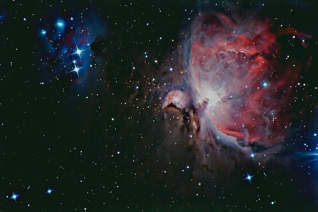 Orion-Nebel (1344 Lichtjahre) (Foto: J.-U. Köhler)